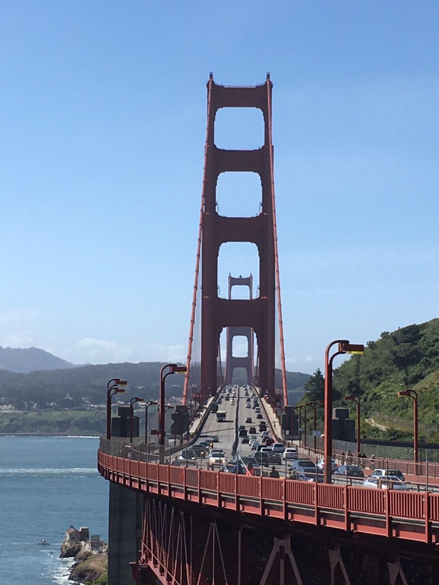 Golden Gate Bridge side-on