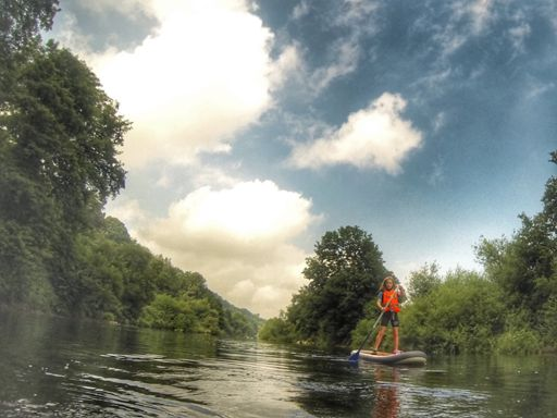 SUP/Canoe with the kids along the River Wye