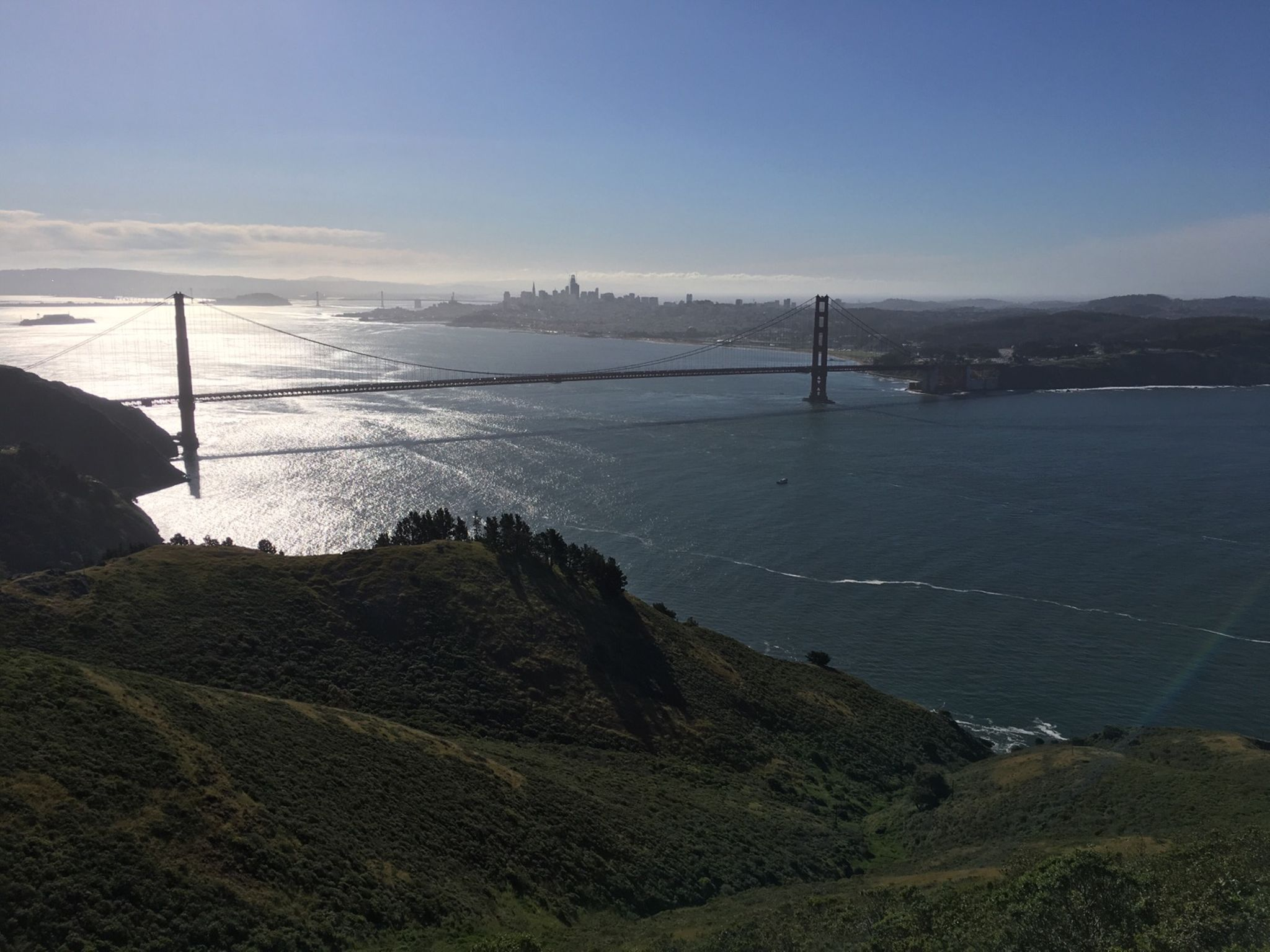 Golden Gate bridge from even higher