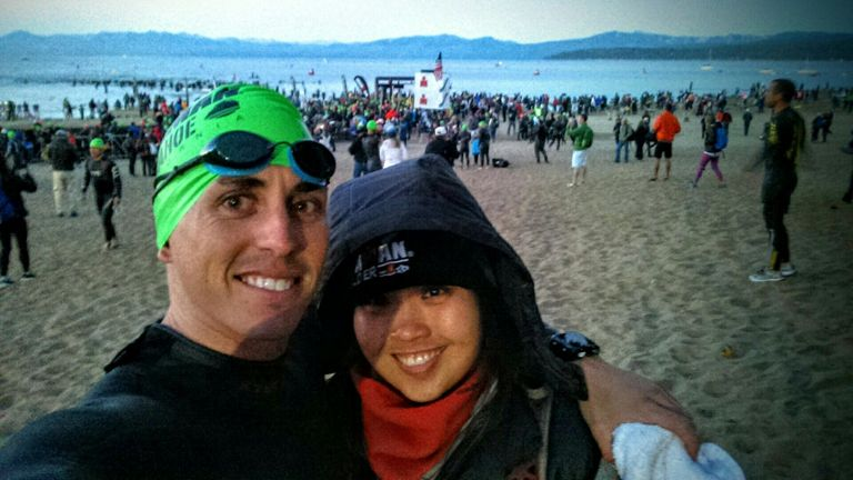 Selfie at the starting line.
